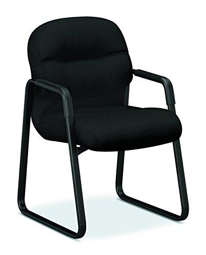 HON Pillow-Soft Guest Chair, Black CU10