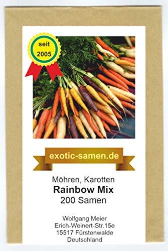Möhre - Karotte - Rainbow Mix - 200 Samen