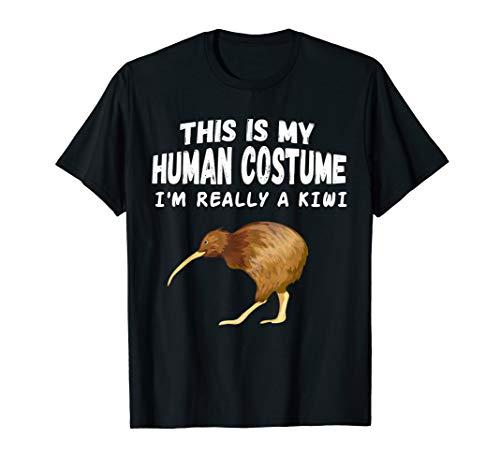 Dies ist mein menschliches Kostüm Ich bin wirklich ein Kiwi T-Shirt