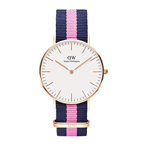 Daniel Wellington Classic Winchester, Blau-rosa/Roségold Uhr, 36mm, NATO, für Damen und Herren