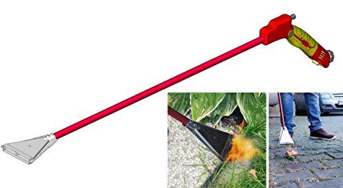Rothenberger Industrial Ökogärtner Premium 1500003247 Unkrautbrenner OHNE Gas-Unkrautvernichter-Abflammgerät-extra breiter Brenner, rot, gelb