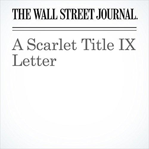 A Scarlet Title IX Letter copertina