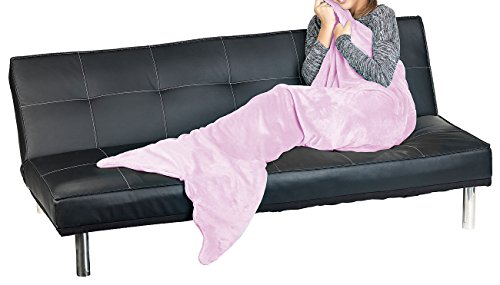 Wilson Gabor Meerjungfrau Schlafsack: Weiche Meerjungfrau-Decke mit Flosse für Kinder, 140 x 60 cm, rosa (Meerjungfrau-Decke Erwachsene)