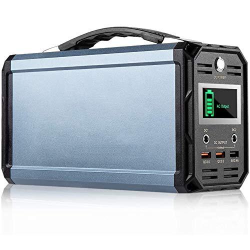 SIRUL 300 W Tragbare Power Station, 60000 mAh tragbares Kraftwerk Camping tragbarer Generator, CPAP-Batterie 220 V AC-Ausgang/DC 12 V/QC-USB-Anschlüsse für CPAP Camp Travel