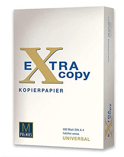 Primus Extra Copy 75gr Carta A4 per fotocopiatrici e stampanti 75gr/mq, Formato A4, confezione da 1 Risme