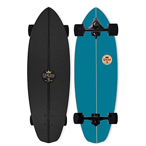 VOMI Carving Pumping Skateboard CX7 Eje Surf Skates (Diseño Estructura Resorte, más Flexible) 82×26cm,