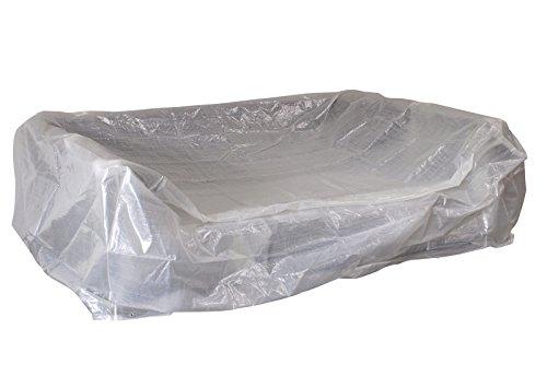 DEGAMO Abdeckhaube für Loungeset/Liegeinsel Manacor, rechteckig 245x165x80cm, PE transparent