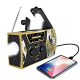 FORZA 2020 Emergency Solar Hand Crank Radio | Solar Powered NOAA Weather Radio | AM/FM, LED Flashlight, USB Charger | Household and Outdoor Emergency | 2000mAh Power Bank| Survival | (Desert Camo)