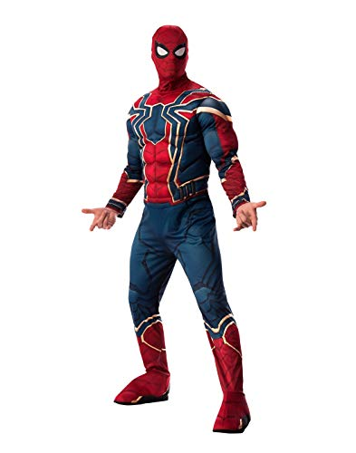 Men's Avengers Endgame Iron Spider Spider-Man Deluxe Costume X-Large 50 Red