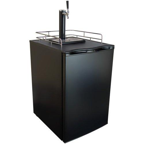 Keggermeister KM2800BK Kegerator Full-Size Single-Tap Beer Refrigerator and Dispenser, Black