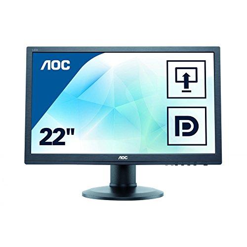 AOC E2260PQ/BK 55,9 cm (22 Zoll) Monitor (VGA, DVI, 2ms Reaktionszeit, DisplayPort, 1680 x 1050, 60 Hz, Pivot) schwarz