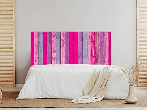 Oedim Cabecero Madera Rosa y Azul, 200x60cm, cabecero Decorativo para Camas, decoración para Habitaciones