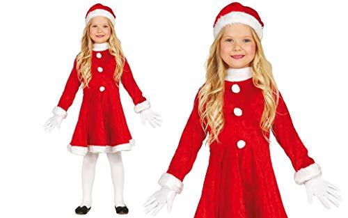 GUIRMA Costume Vestito Babbo Natale Bambina