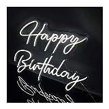 WMLWML Personalizado LED Neon Logo Feliz cumpleaños 3D Flex Lights Acrílico Neón Signo Letra Board Fondo Decoración (Color : AU Standard)