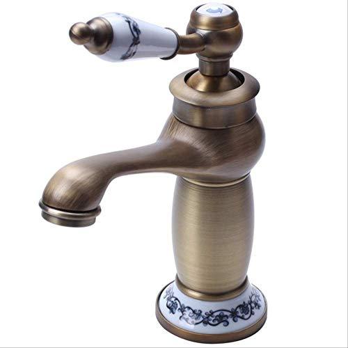 Miscelatore Da Cucina Retro Monocomando In Ottone E Rubinetto Per Lavabo In Ceramica Con Ingresso Acqua Per Vasca Da Bagno (ottone) A