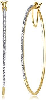 Diamond Muse Diamond Accent 2 Inch Hoop Earrings
