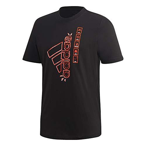 adidas Herren M E&U Icons Tee T-Shirt, Black, XS