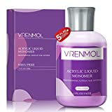 Vrenmol Acrylic Liquid Monomer - 5 oz Professional Polymer Acrylic Nail System for Acrylic Powder Nail Extension Flexible Non-Yellowing, MMA Free