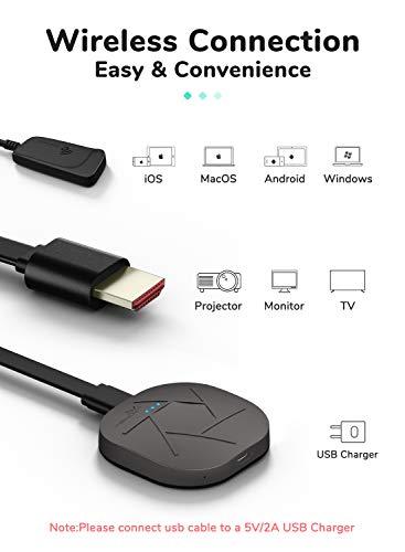YEHUA Wireless WiFi Display Dongle, 5G/2.4G Miracast HDMI Dongle WiFi Streaming Video Receiver Konverter für iOS / Android / PC / Tablet / Windows / Mac OS zu HDTV / Monitor / Projektor