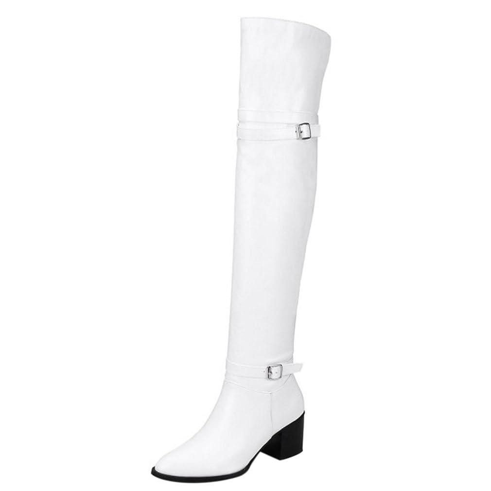 コンパニオン光のうがい薬[タオフェン] レディース ファッション ニーハイ ブーツ 大きいサイズ ベルト付き