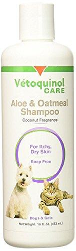 Vetoquinol Aloe and Oatmeal Shampoo for Pets 16 fl oz