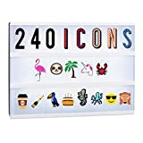 Relaxdays Lightbox Ergänzungsset, 240 verrückte Zeichen, Erweiterung mit Buchstaben und Zahlen,...