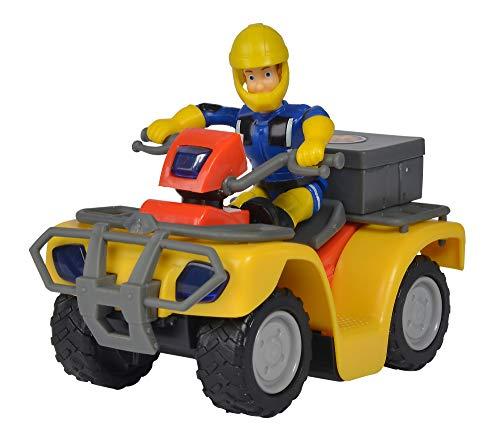 Simba 109257657 - Feuerwehrmann Sam Mercury-Quad, mit Sam Figur und Zubehör, für Kinder ab 3 Jahren