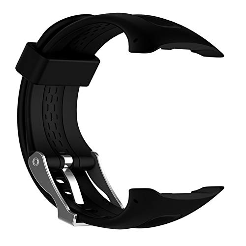 YNLRY Correa de silicona para reloj Garmin Forerunner 10 15 Running Sports Watch pequeño grande para mujeres y hombres bandas de repuesto con herramientas (color negro, tamaño: 22 cm para mujer)