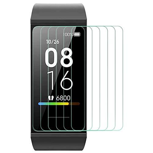 TQmate 6Stück, Schutzfolie für Xiaomi Mi Band 4C,TPU Folie Bildschirmschutzfolie, Klar HD Weich Folie, Blasenfreie, Kratzfest