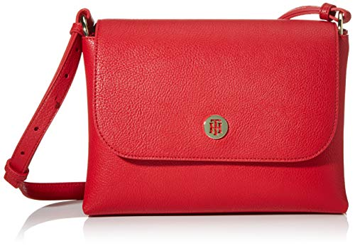 Tommy Hilfiger Damen Th Core Flap Crossover Umhängetasche, Rot (Barbados Cherry), 1x1x1 cm