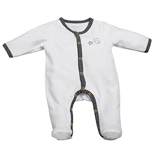 Pyjama bébé blanc/gris naissance Babyfan - Sauthon