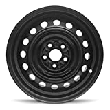 Road Ready Car Wheel for 2003-2008 Toyota Corolla 15 inch 5 Lug Black Steel Rim Fits R15 Tire - Exact OEM Replacement - Full-Size Spare