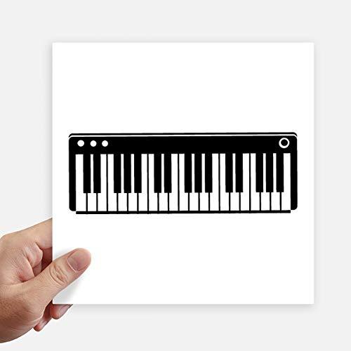 DIYthinker Elektrische Piano Muziek Vitaliteit Geluiden Vierkante Stickers 20Cm Wandkoffer Laptop Motobike Decal 4 Stks
