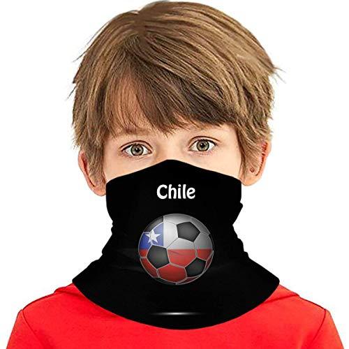 Wthesunshin Bufanda Niños Calentadora De Cuello Bandera De Chile Fútbol Fútbol Bufanda de Invierno Bandana Pasamontañas Calentador de Cuello Pañuelos para bebés, niños y niñas