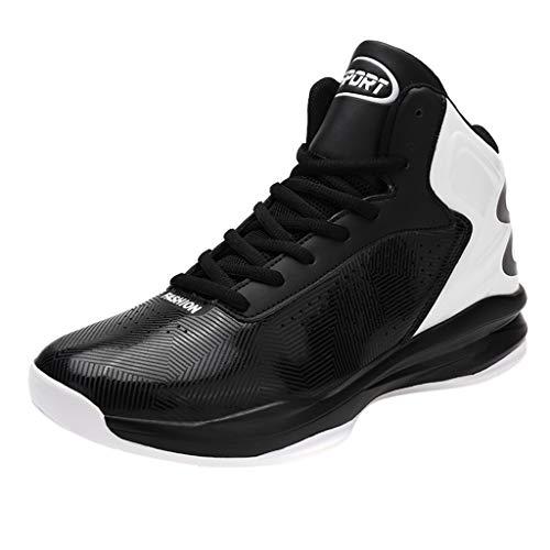 Herren Jungs High Top Licht Dämpfung Antirutsche Basketballschuhe, Damen rutschfest Sport Basketball Stiefel Boots, Teens Unisex Sneakers Turnschuhe Fitnessschuhe Straßenlaufschuhe