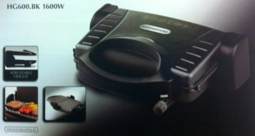 Kenwood HG600 Plattengriller 1600W Elektrogrill Kontaktgrill Plattentoaster