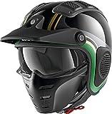 Shark X-Drak HISTER KGQ - Casco de Moto (Talla M), Color Negro y Verde
