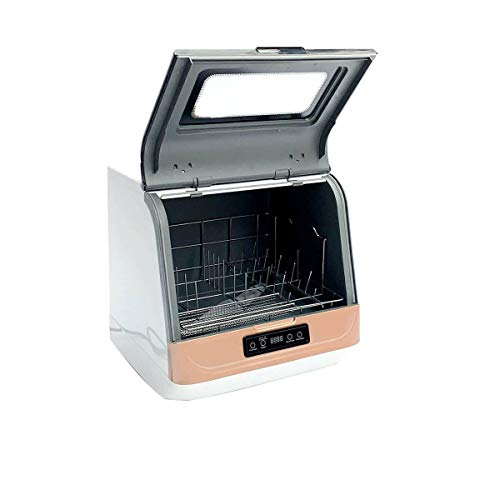 SUDEG Portable Countertop Dishwasher Compact Dishwasher Compact Countertop Dishwasher, 4 Washing Programs Portable Dishwasher with Inlet & Outlet Hose Programs LED Display Home Kitchen