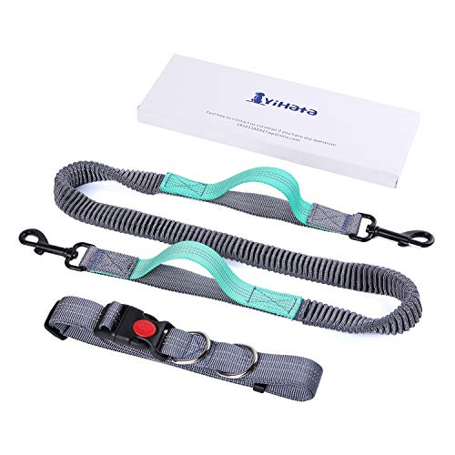 YIHATA Hands Free Dog Leash for Running Walking Jogging Training Hiking Retractable Bungee...