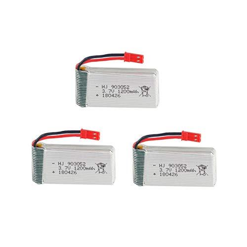 RFGTYH Batería lipo de 3,7 V 1200 mAh para MJXRC T64 T04 T05 F28 F29 T56 T57...