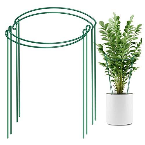 mooderff Halfronde tuinplant steunring metalen plant paal voor tuin rotan clematis planten
