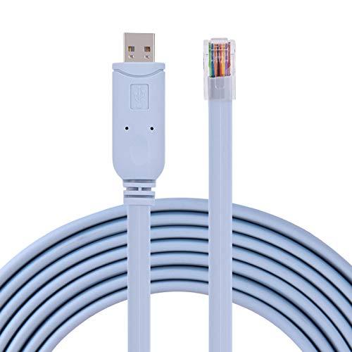 KIKYO Cable USB2.0 Macho a RJ45 Macho, Adaptador USB a RJ45 Cable...
