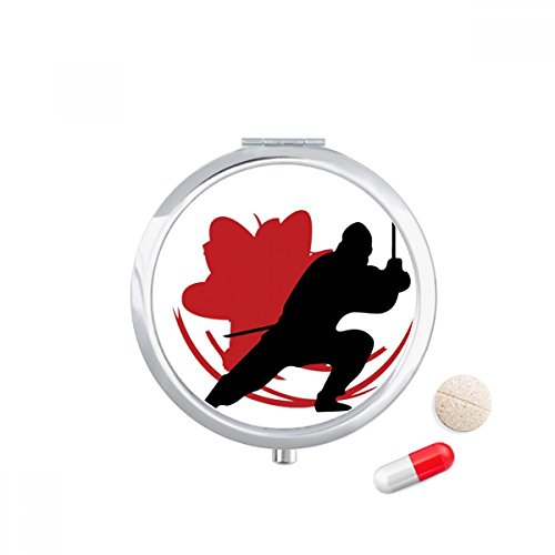 DIYthinker Japan Asia Samurai Katana Sakura Action Travel Pocket Pill case Medicine Drug Storage Box Dispenser Spiegel Gift