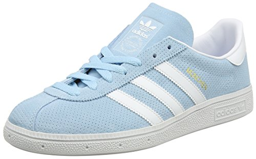 adidas Men's Munchen Running Shoes, Multicolor (Icey Blue F17/ftwr White/Gold Met.), 6.5 UK