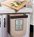 NA Cubos de Basura Plegable Colgando para la Cocina,Basura Plegable Cubo Basura...