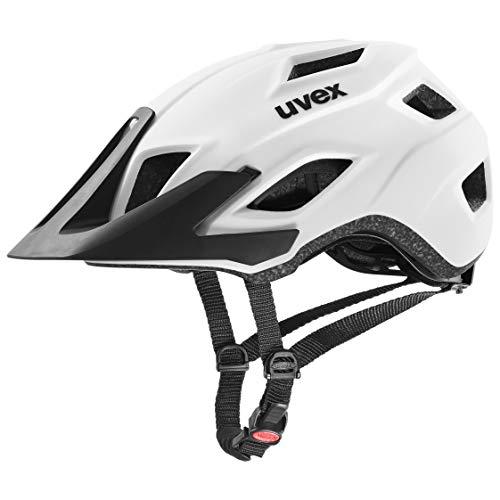 uvex Unisex – Erwachsene, access Fahrradhelm, white mat, 52-57 cm