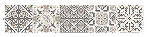 Leileixiao Home-Decor Portugués Estilo Patrón Vintage Pegatina de azulejo Cuarto de baño Cocina Etiqueta de Pared Etiqueta Impermeable Calcomanías DIY Adhesivo Wallpaper (Color : D, Size : 30x150cm)