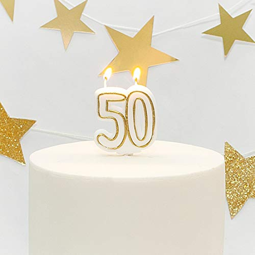 Age 50 Milestone Birthday Cake Candle