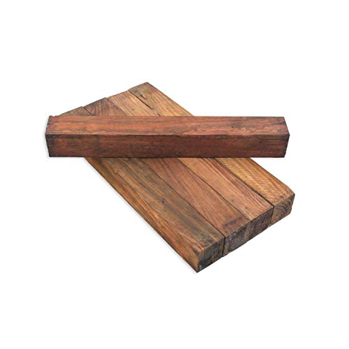 "Legacy Woodturning, Cocobolo Wood Turning Blank, 1 1/2"" x 1 1/2"" x 12"", Pack of 5"