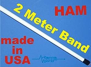 FidgetKute Ham 2m Marine VHF 2 Meter Antenna 144-148 MHz 8 Feet Tapered Fiberglass Airwave Show One Size